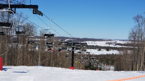 Peek'n Peak - March 17 had fantastic skiing conditions!  - © AAA