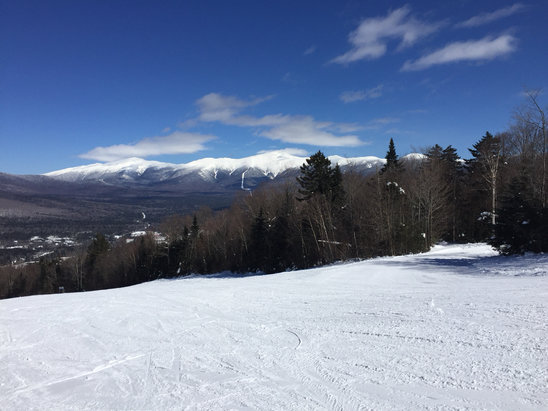 Bretton Woods - Outstanding conditions and absolutely no crowds. Some runs we didn't see a single person in the trail. Monday 3/19 - © iPhone