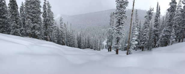 "Keystone - Absolutely fantastic day at Keystone. Snow report was 4"" but there was at least 6"" in the Outback. Laid down first tracks and was nearly alone all morning - © Brian's iPhone"