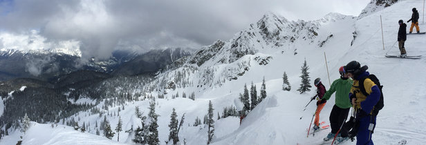 Revelstoke Mountain Resort - Today was amazing. Snow report said 7-10cm but at the top and on North Bowl I was knee deep into it. Forecasting more snow tonight. - © Matty B