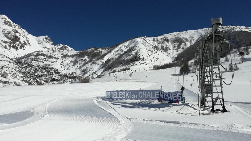 Sur les pistes de ski de Larche - © Office de tourisme de l'Ubaye