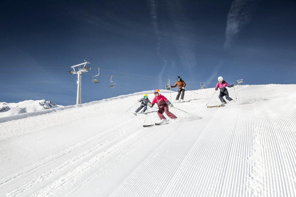 Auf der Piste im Skigebiet Imst - © Imster Bergbahnen | Rudi Wyhlidal