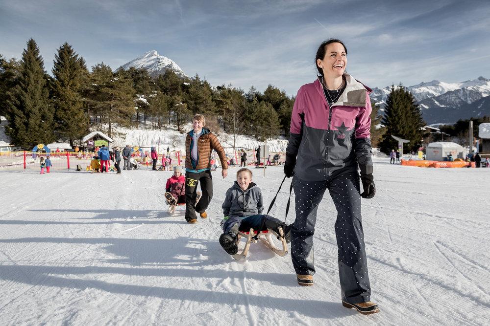 Rodeln ist für Kinder ein großer Spaß - © Imster Bergbahnen | Rudi Wyhlidal