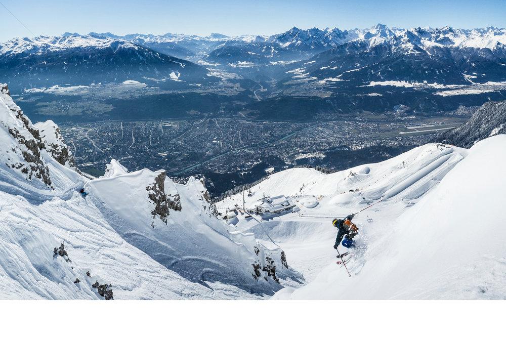 Freerider im Skigebiet Innsbruck Nordkette - © © Innsbrucker Nordkettenbahnen - Webhofer