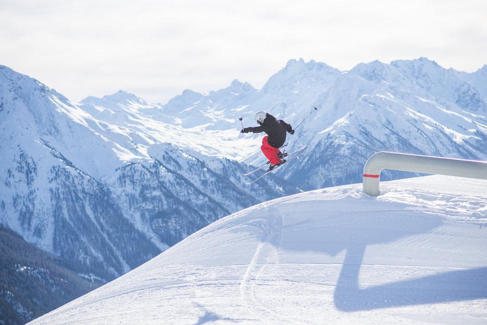 Im Skigebiet Kappl gibt es auch einen sehenswerten Snowpark - © © TVB Paznaun - Ischgl