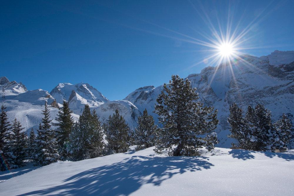 Décor de carte postale hivernale à Pralognan la Vanoise - © Gilles Lansard