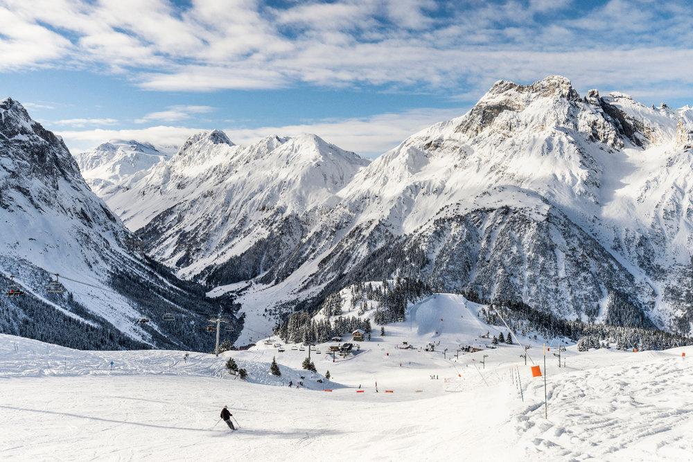 Le secteur du Mont Bochor sur le domaine skiable de Pralognan la Vanoise - © Steph Cande