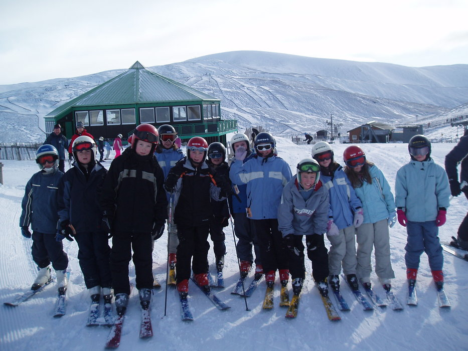 Kids at ski school, Glenshee, Scotland. Copyright: Cairnwell Mountain Sports