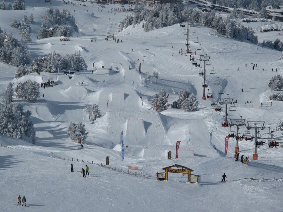 Le snowpark de Chamrousse - © Wiseride / Office de Tourisme de Chamrousse