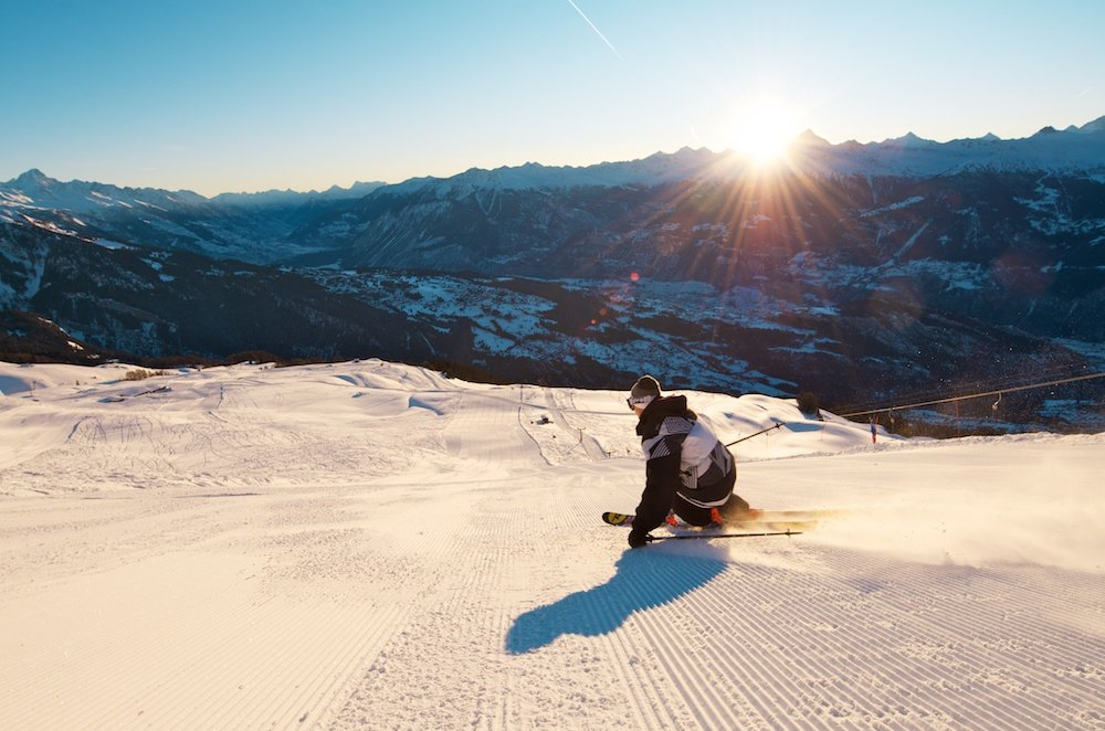 Skifahren in Anzère - © Anzère Tourisme