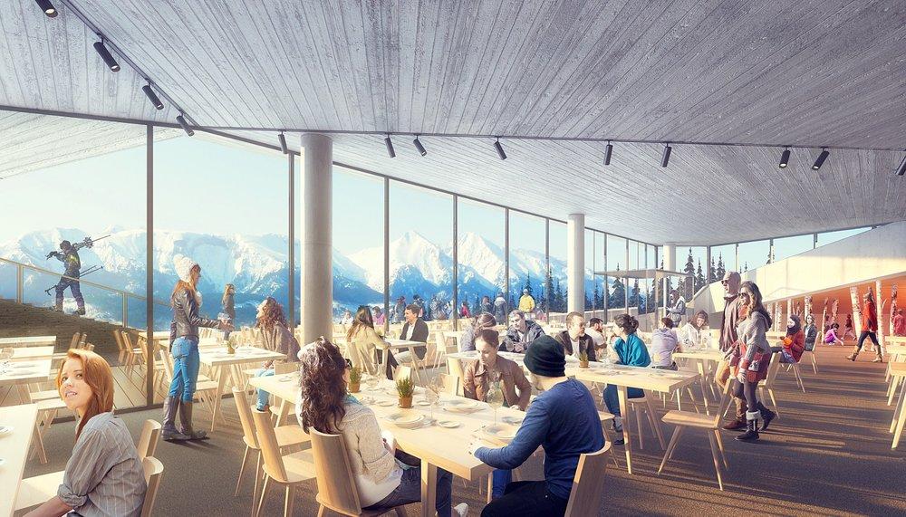Reštaurácia Bachledka - interiér (vizualizácia) - © Ski Bachledka