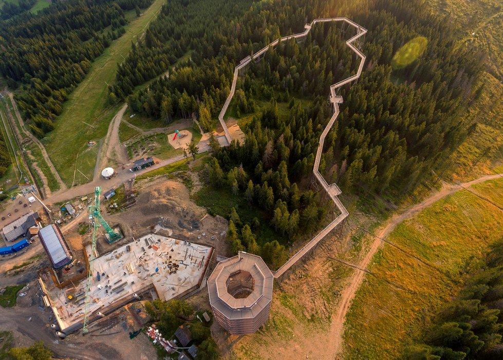 Aktuálna snímka z výstavby reštaurácie Bachledka - © Ski Bachledka