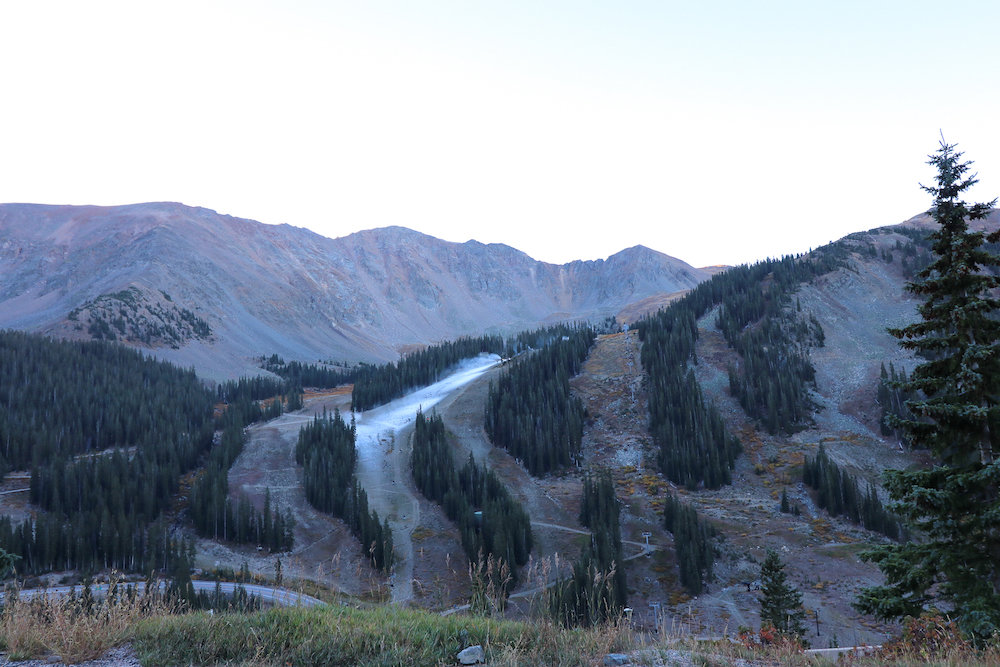 The first layer of snow being laid down at Arapahoe Basin. - © Ashley Ojala