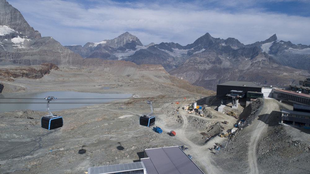 Das neue Talgebäude am Trockenen Steg liegt schon fast auf 3000m Höhe - © LEITNER ropeways