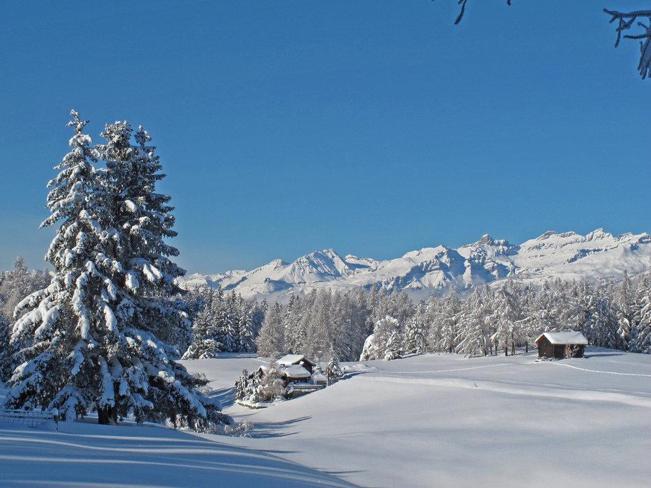 Panoramawinterwanderweg bei Bürchen (Moosalp) - © Bürchen Tourismus