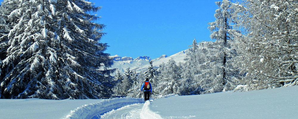 Winterwandern auf der Moosalp - © Bürchen Tourismus