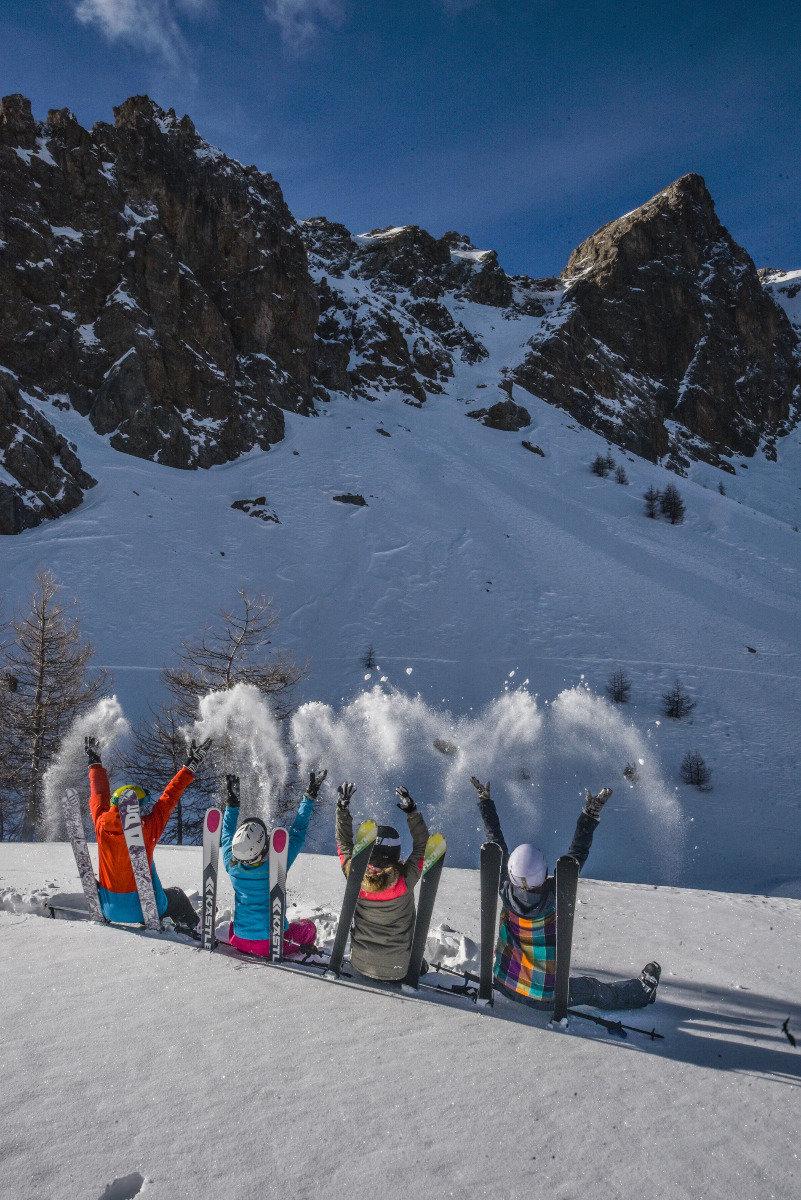 Ski entre amis au Sauze (Col de Fours) - © Manu Molle