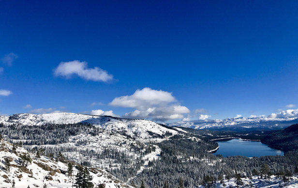 Sugar Bowl Resort - Hard to ski down with views like this from the top...  - © Tricia's iPhone