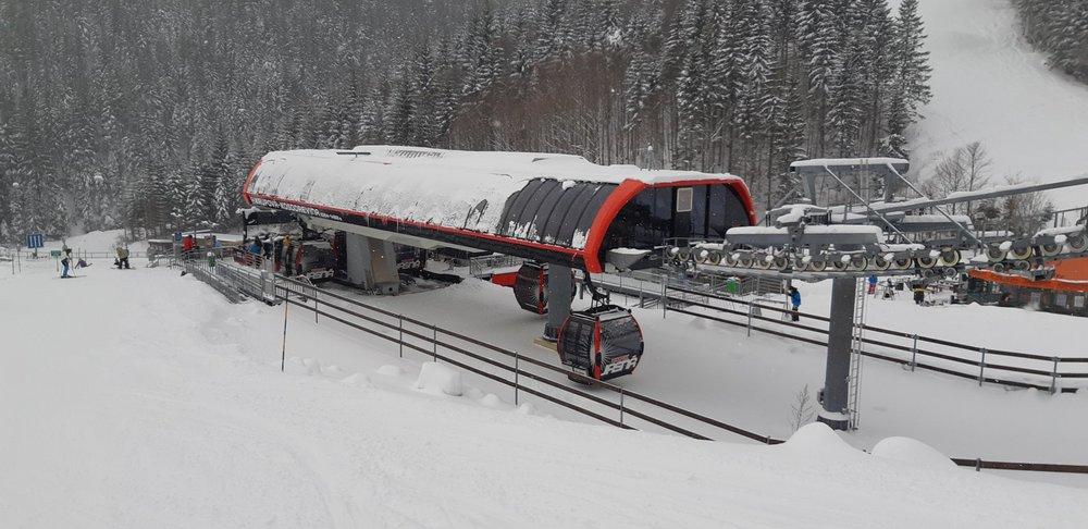 Čerstvý sneh v stredisku Jasná Nízke Tatry 11.12.2018 - © TMR, a.s.