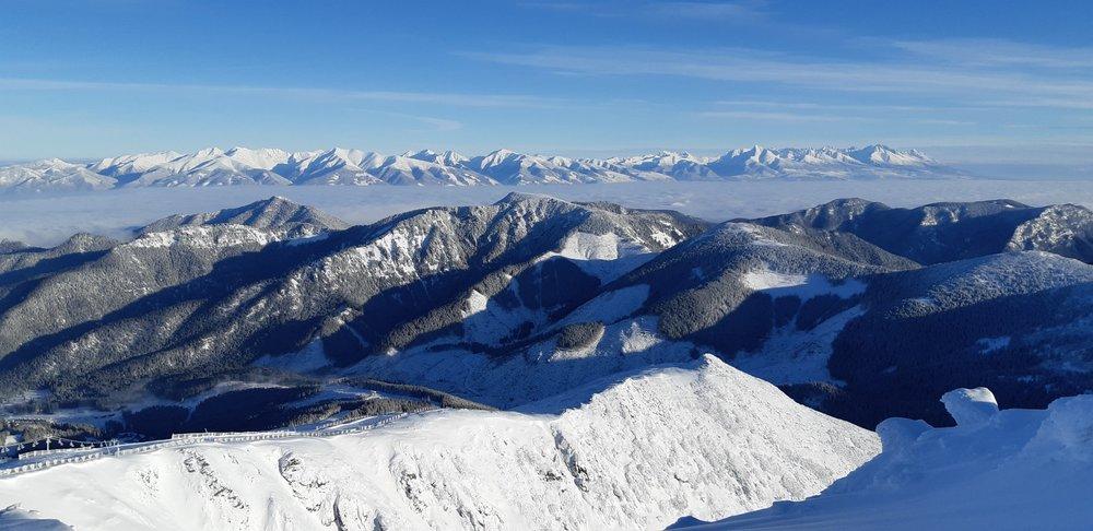 Na Chopku nájdete zvyčajne veľmi dobré snehové podmienky aj fascinujúce výhľady - © TMR, a.s.