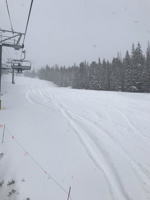 Breckenridge - Crazy pow day!   Wind and continuous snow kept the mountain full of fresh runs.   - © Craig's iphone