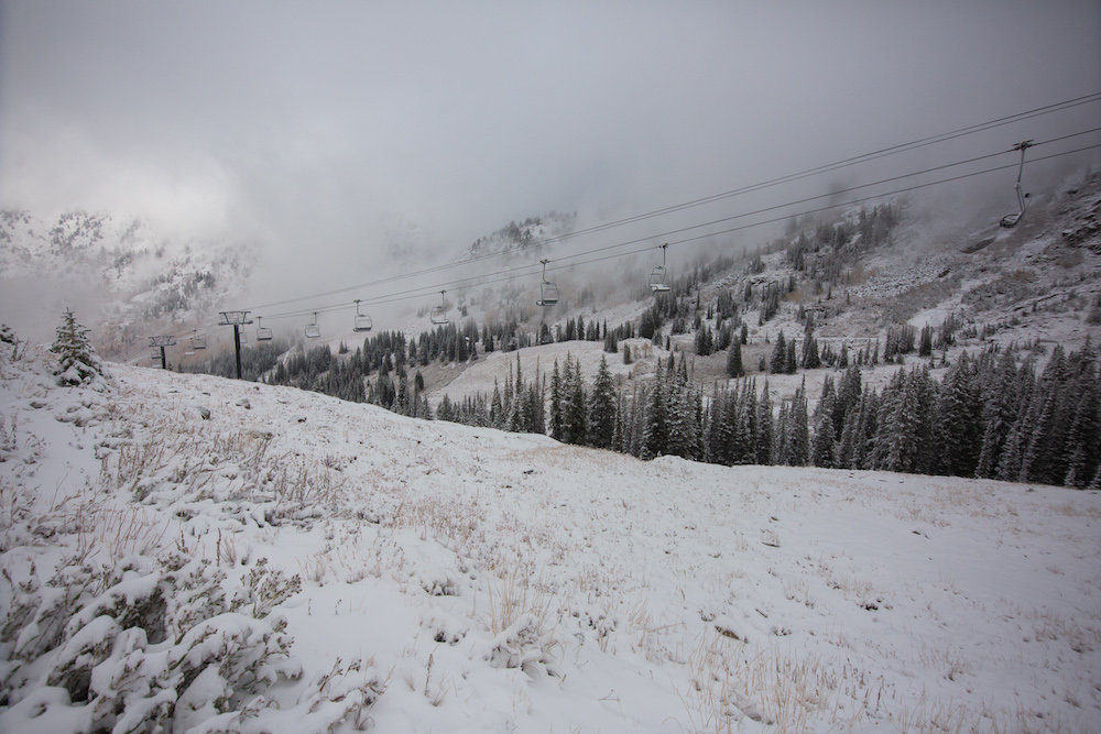 Alta was one of many Utah ski areas to receive an early October dusting. - © Rocko Menzyk, Alta Ski Area