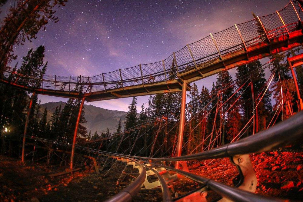 Copper coaster at night. - © Copper Mountain