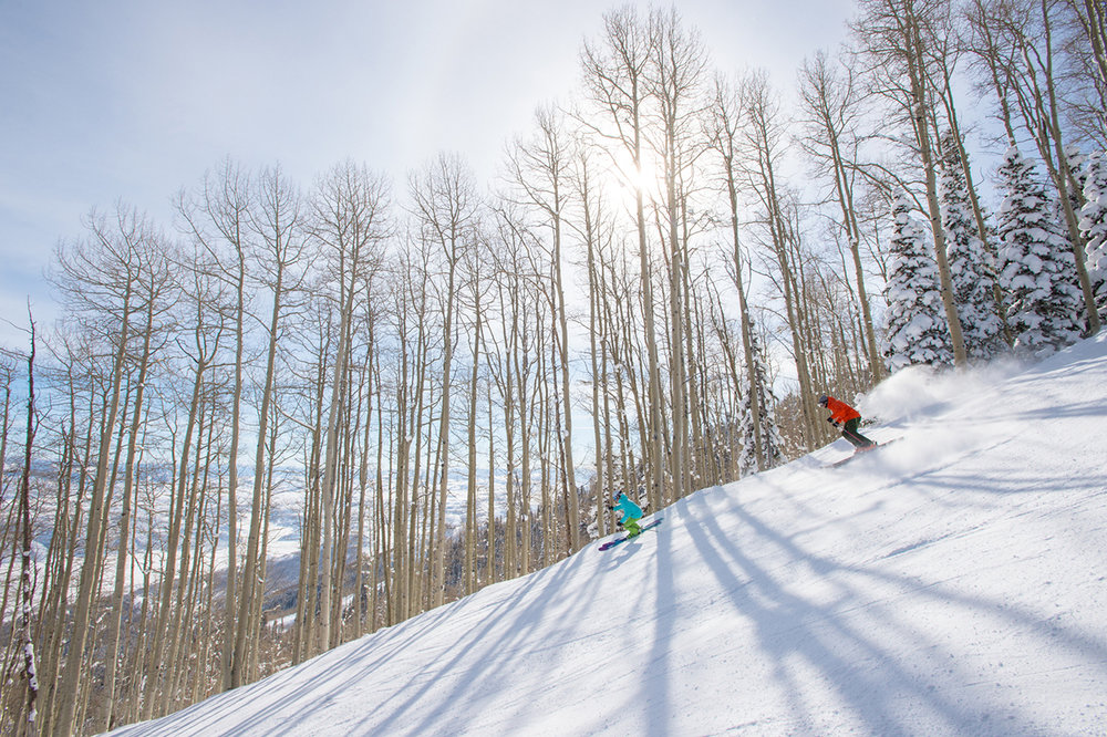 "Deer Valley Resort offers the ""Steeps & Stashes"" three-day clinic for strong intermediate-to-expert skiers who want to ski off-piste. - © Scott Markewitz"