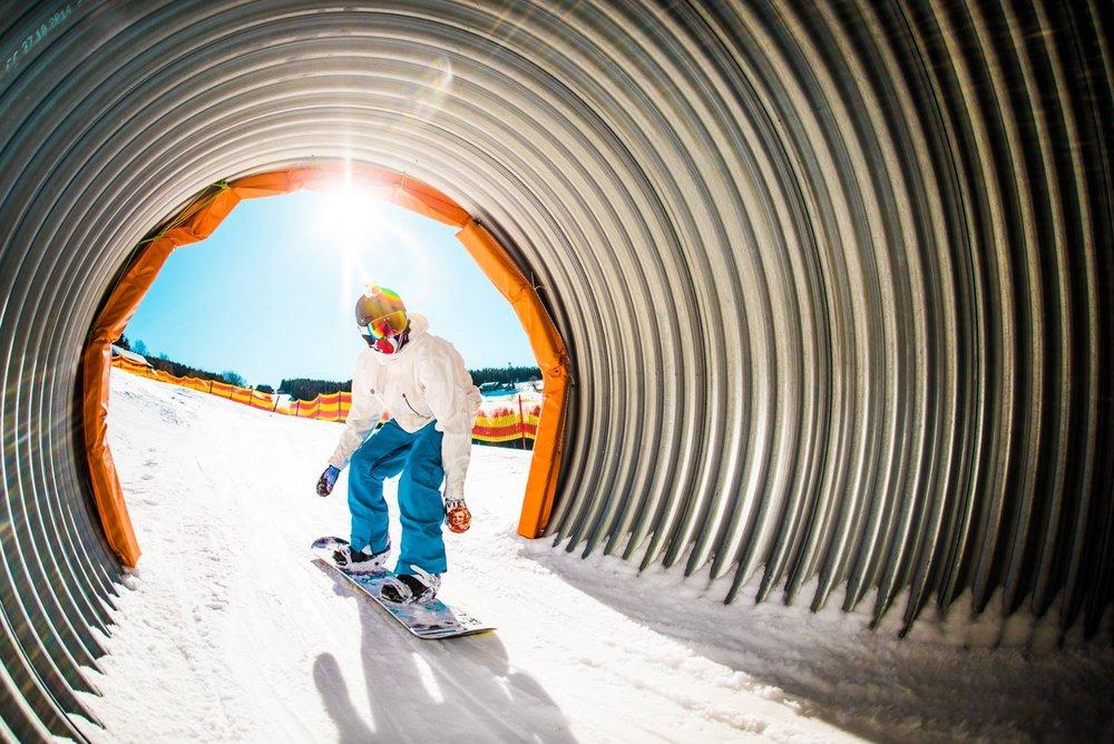 Funline na sjezdovce Smrk v Peci pod Sněžkou - © SkiResort ČERNÁ HORA - PEC