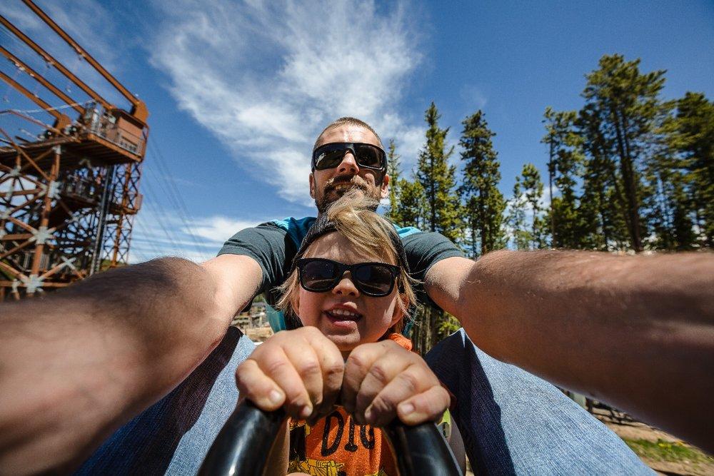 Breck's Goldrunner mountain coaster. - © Brent Clark, Breckenridge Ski Resort