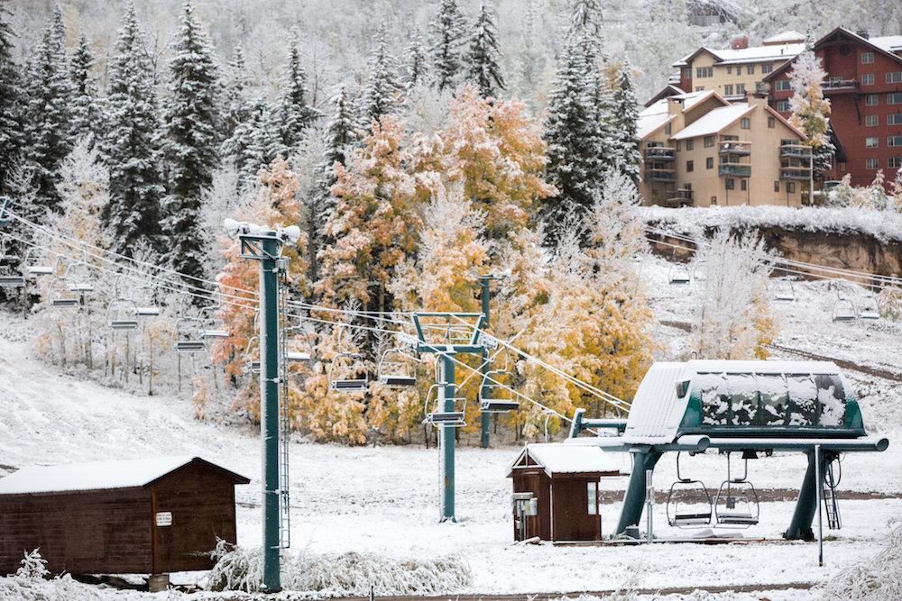 Purgatory knows how to blend seasons. - © Grady James, Purgatory Resort