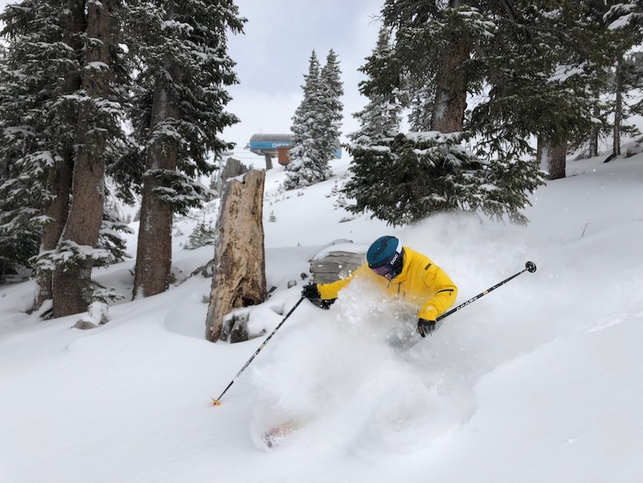 Colorado skiers and riders hit the early-season jackpot with multiple feet of new snow and ski resorts opening ahead of schedule for the 2018/2019 ski season. - © Casey Day, Loveland Ski Area