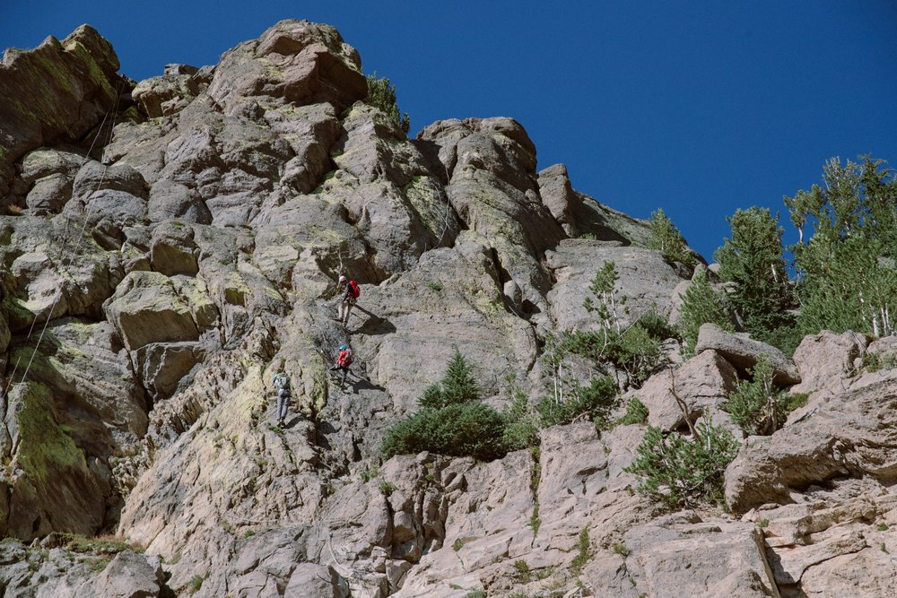 Mammoth Mountain recently debuted its Via Ferrata climbing experience, located mid-mountain on the rugged cliffs below the Caldera Overlook near McCoy Station. - © Peter Morning (Mammoth Mountain)