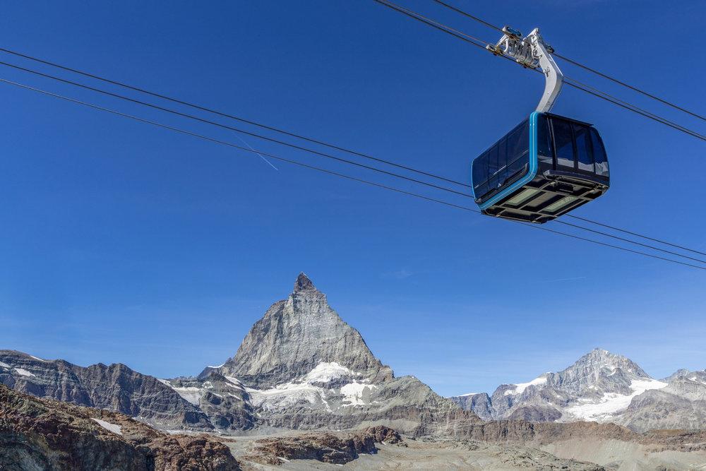 Die neue 3S-Gondel auf das Klein Matterhorn - © LEITNER ropeways