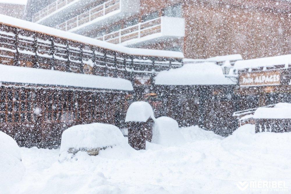 Heftiger Schneefall in Meribel - © Méribel Coeur des 3 Vallées/Facebook