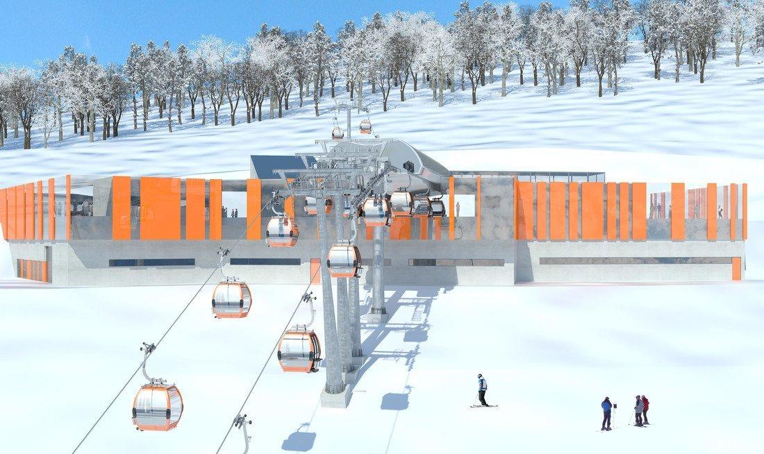 Architektonisch ein Hingucker: die Mittelstation der neuen Schlossalmbahn - © Gasteiner Bergbahnen