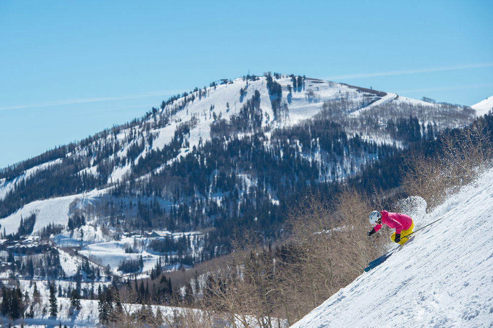 It's roughly a half hour from the airport to the 41 lifts, 348 trails, 13 bowls and eight terrain parks on Park City Mountain's 7,300 acres, with the amenities of Park City all around. - © Scott Markewitz