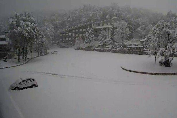 Prima neve in Abruzzo! Prati di Tivo 22.10.18 - © Prati di Tivo webcam