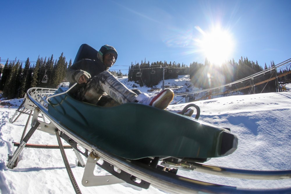 The Rocky Mountain Coaster is a great activity to complement a ski trip. - © Tripp Fay, Copper Mountain Resort