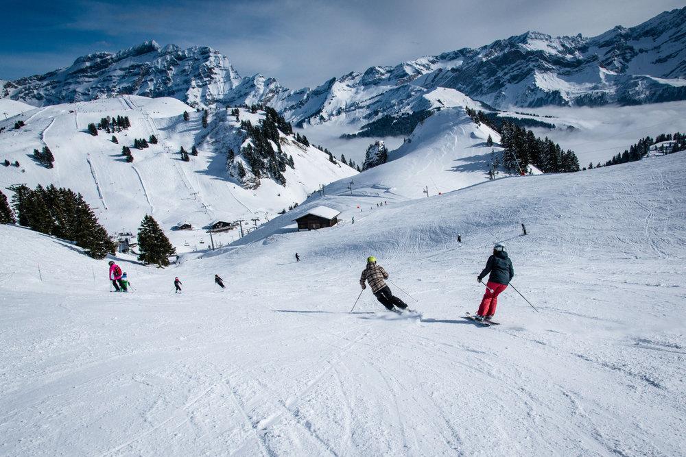 Du ski version XXL au sein du domaine skiable reliant Villars-Gryon et Les Diablerets - © D.CARLIER / davidcarlierphotography.com
