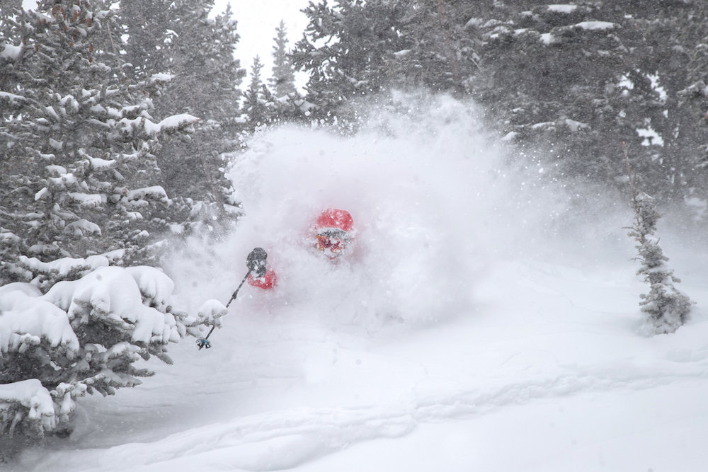 Snowbird saw double digit dumps this month that produced some of the best conditions of the season.  - © MattCrawley