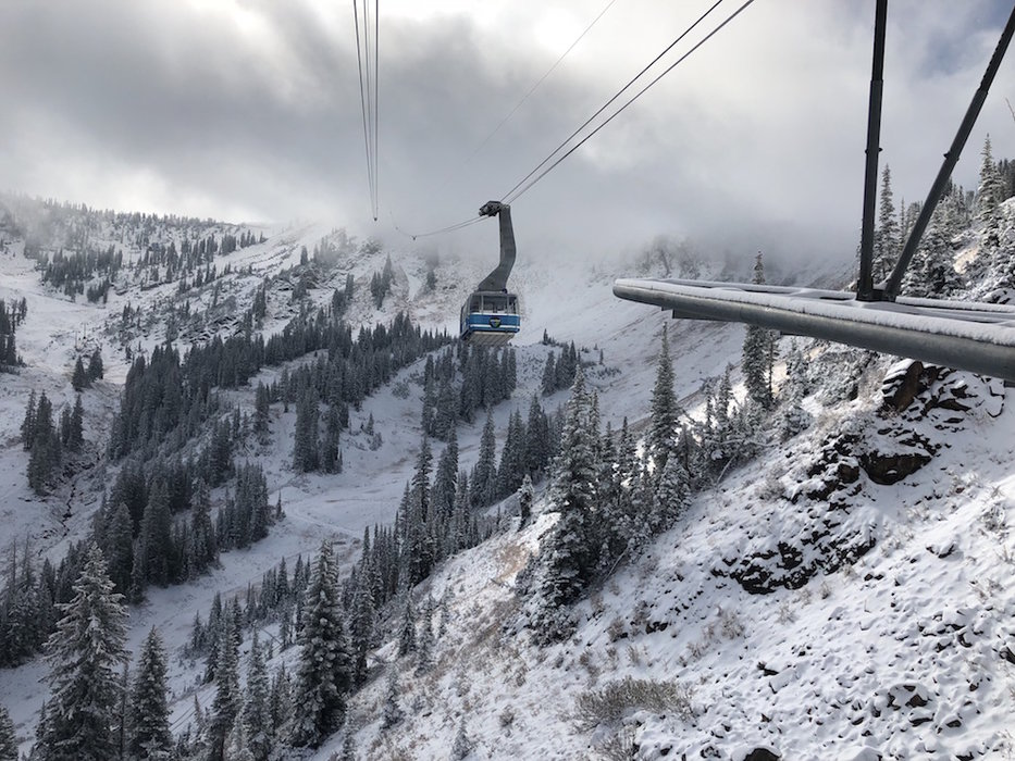 Snowbird was among many Utah resorts to see early season snowfall this October. - © Snowbird, Brian Brown