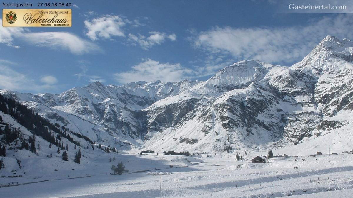 Sníh pokryl svahy ve Sportgastein - © Facebook Gasteinertal