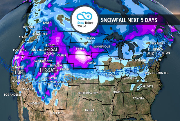 Tomer's Take for the Best Skiing This Weekend: Ski Alta or Snowbird on Friday, Jackson Hole or Big Sky on Saturday and Aspen/Snowmass, Steamboat or Wolf Creek on Sunday.  - © Meteorologist Chris Tomer