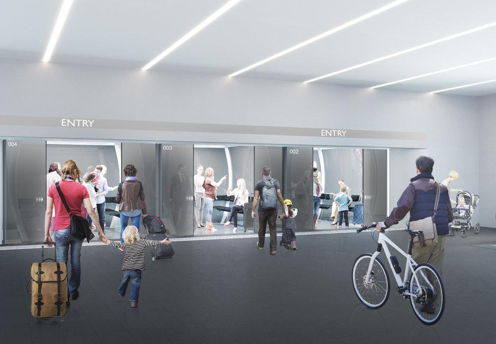 So könnte eine Station der Seilbahn aussehen - © Schörghuber Unternehmensgruppe