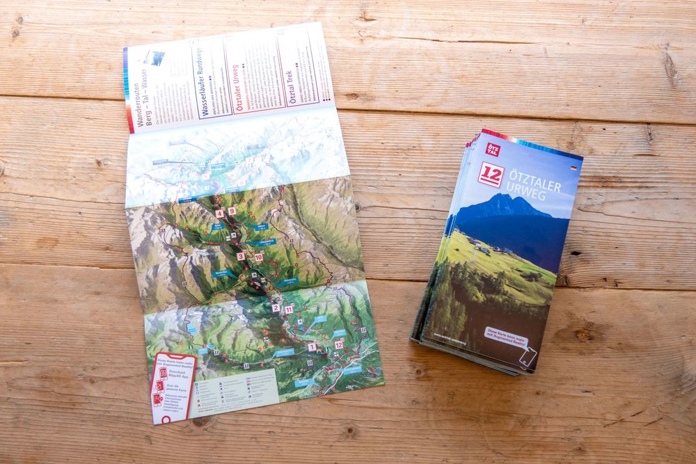 Panoramakarte vom Urweg im Ötztal - © motas design