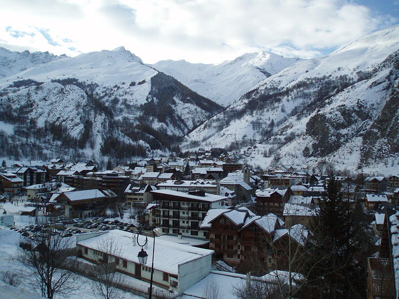 The scenic village of Valloire, France.
