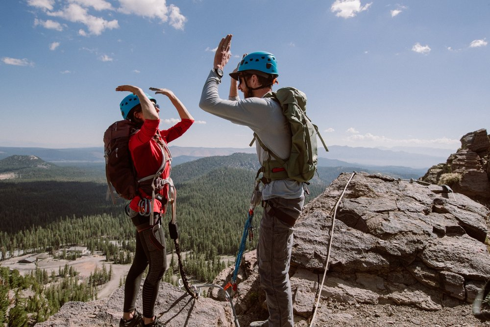 No climbing experience and a minimal fitness level are required to participate in Mammoth's Via Ferrata. - © Peter Morning (Mammoth Mountain)