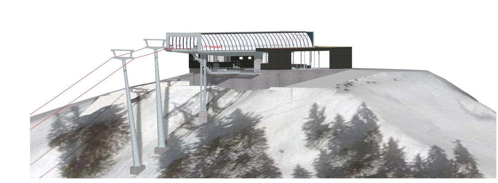 Bergstation der neuen Kohlmaisbahn - ©  Tourismusverband Saalbach Hinterglemm