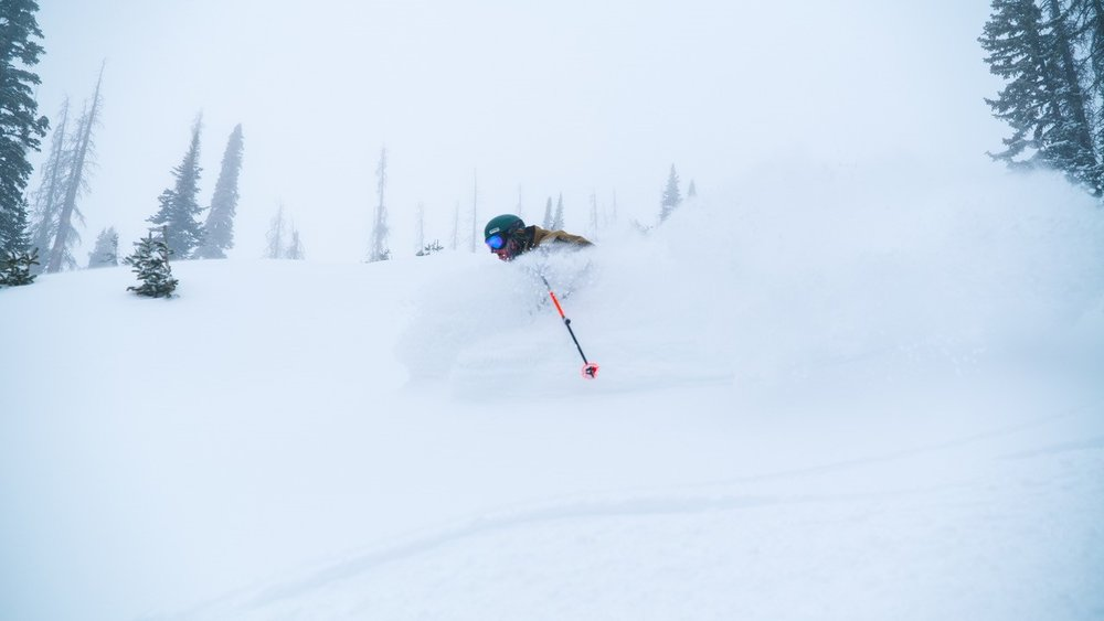 Slashing through the fresh at Wolf Creek. - © Keenan DesPlanques